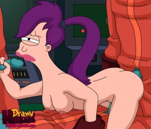 Goodcomix Futurama - [Drawn Hentai] - Cubert Farnsworth and Aliens Fuck Leela xxx porno