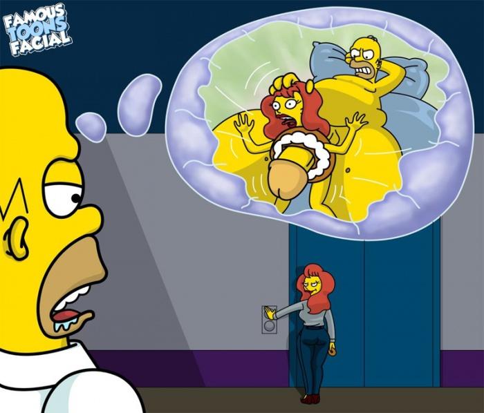Goodcomix The Simpsons - [Famous Toons Facial] - Homer fucks assistant xxx porno