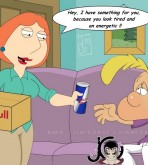 Family Guy — Titeuf & Lois — Red Bull Gives You Win xxx porno