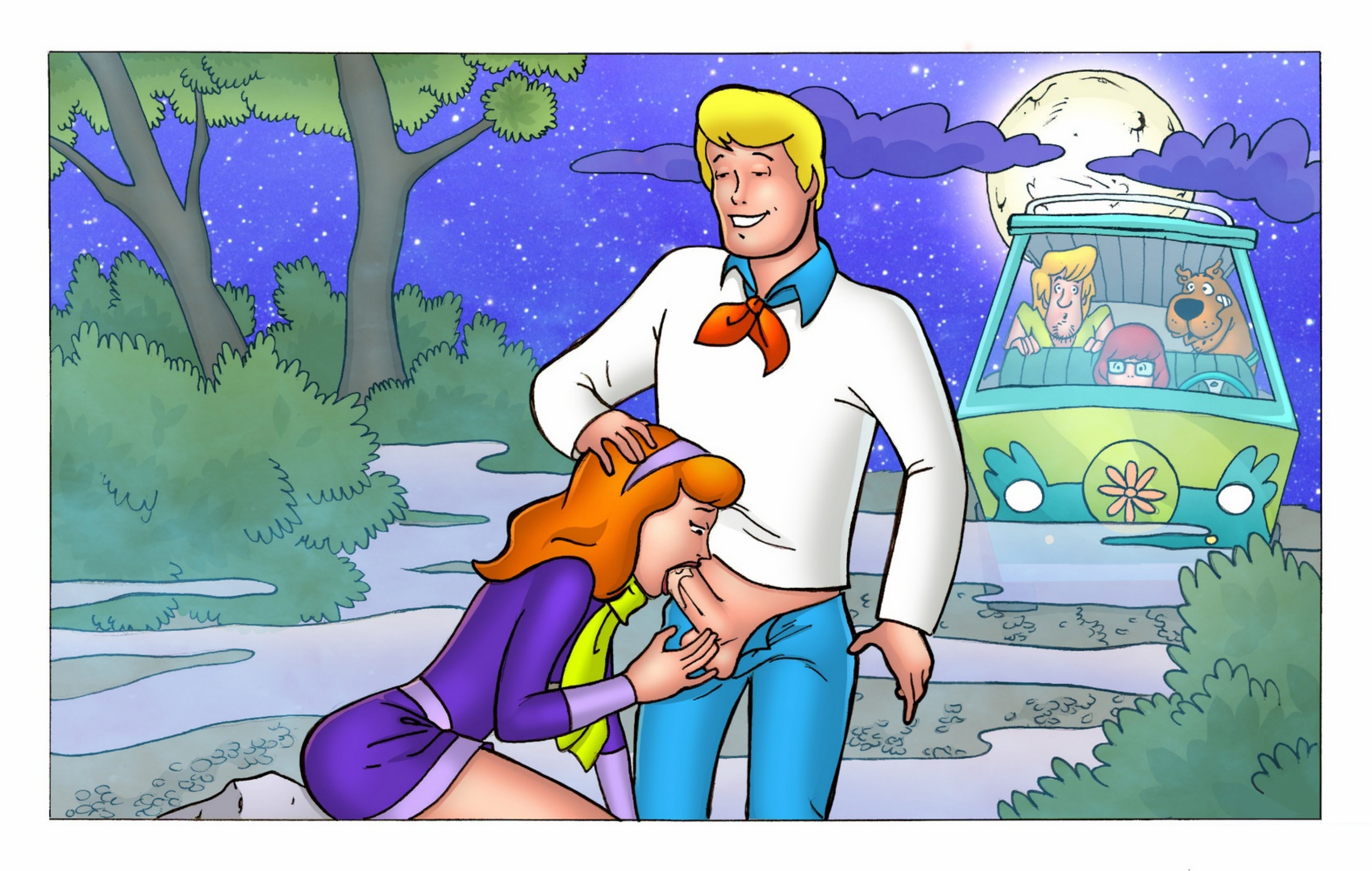 Scooby Doo — [Cartoonza] — Daphne Gets Fucked In The Forest xxx porno