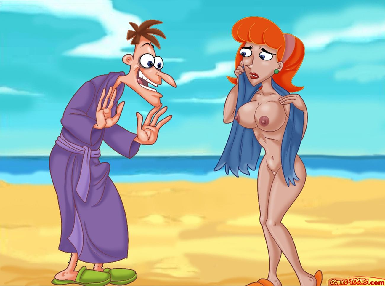 Phineas And Ferb — Fucking On The Beach xxx porno