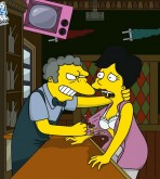 The Simpsons — Moe fucks blonde woman at the bar xxx porno