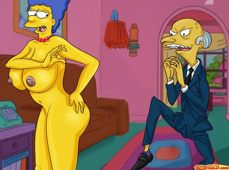 Mr burns the simpsons marge porn for