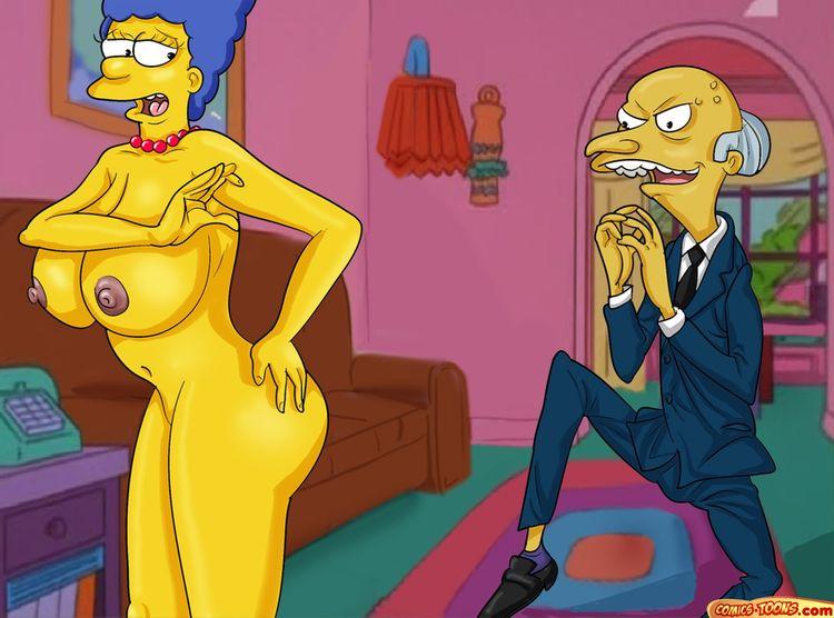 Goodcomix The Simpsons - [Comics-Toons] - Montgomery Burns Wants to fuck Marge xxx porno