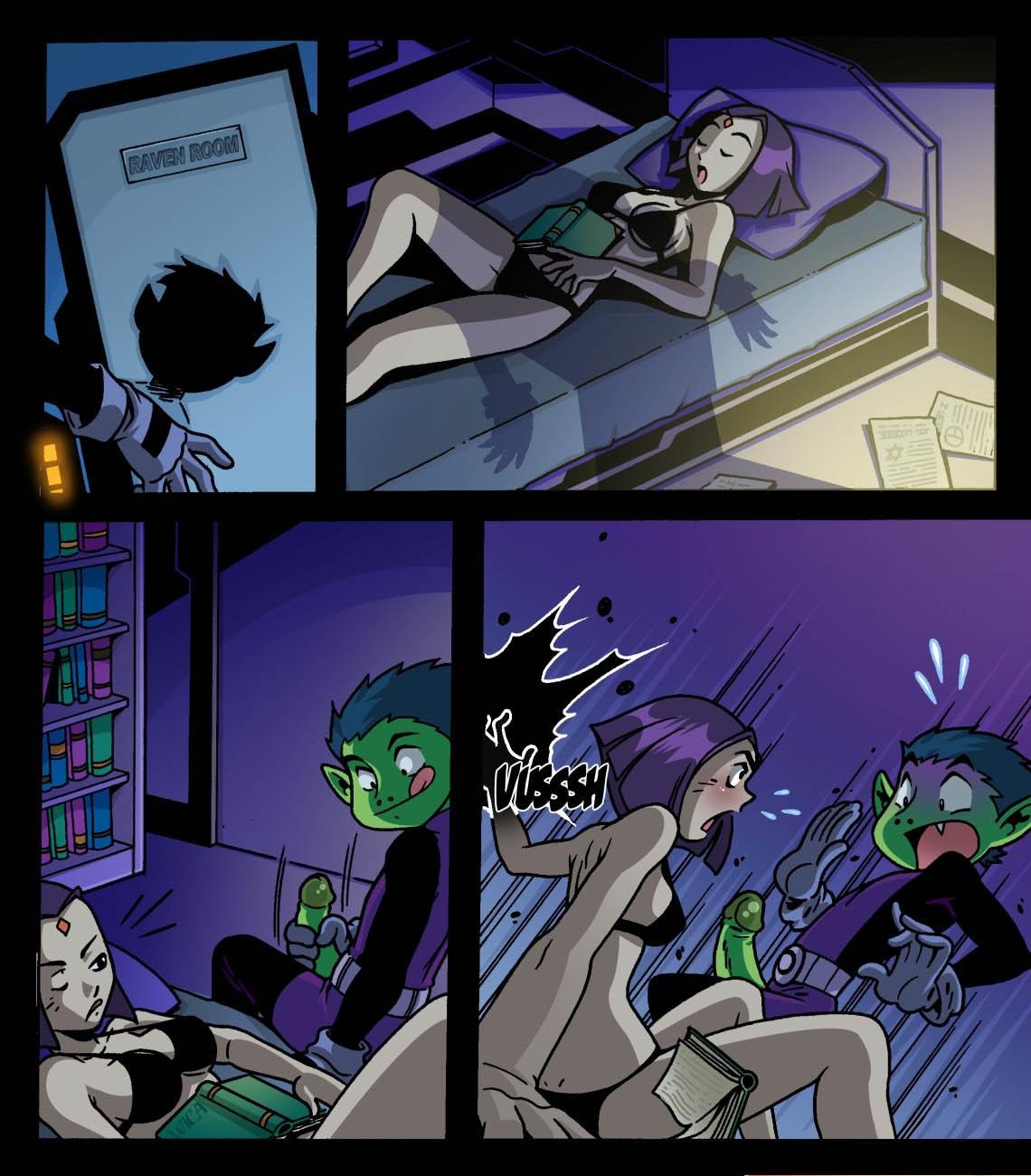 Goodcomix The Teen Titans - [Comics-Toons] - [EXP-ART] - Raven fingering Beast Boy xxx porno