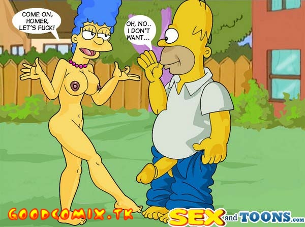 Goodcomix The Simpsons - [Sex & Toons] - Homer+Marge - Sex In The Garden xxx porno