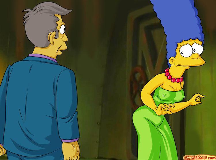 Goodcomix The Simpsons - [Comics-Toons] - Seymour Skinner has fun with Marge xxx porno