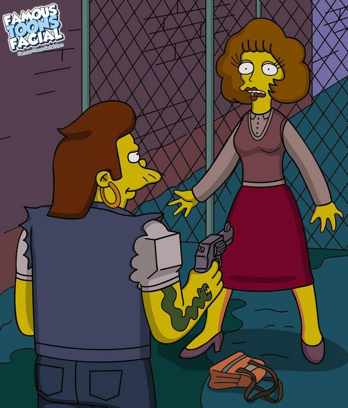 Goodcomix The Simpsons - Snake fucks Maude xxx porno