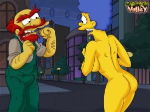 Goodcomix The Simpsons - [CartoonValley] - Willie Fucks Marge xxx porno