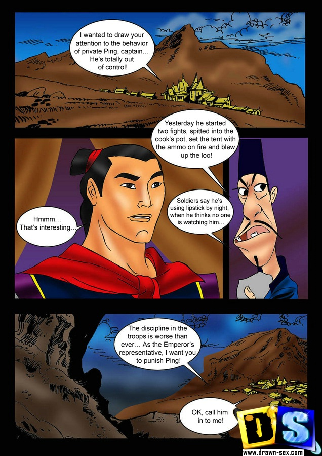 Mulan — [Drawn-Sex] — Talking With The Captain xxx porno
