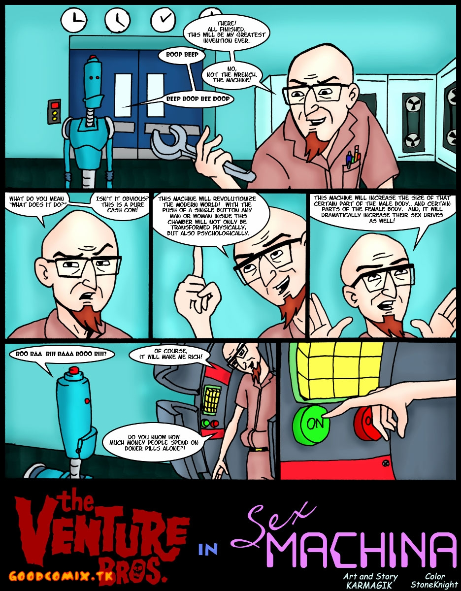 Goodcomix.tk The Venture Bros - Venture Bros - Sex Machina xxx porno