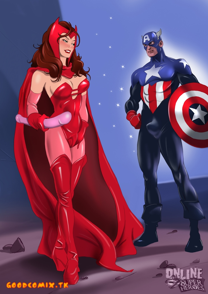 Goodcomix Justice League - [Online SuperHeroes] - Scarlet Witch and Captain America xxx porno