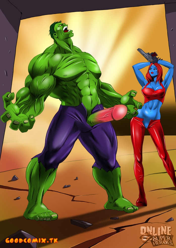 Goodcomix The Incredible Hulk - X-Men - [Online SuperHeroes] - Hulk & Mystique