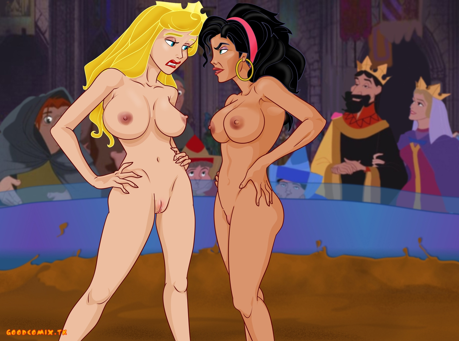Goodcomix The Hunchback of Notre-Dame - Sleeping Beauty - [XL-Toons] - Aurora VS Esmeralda xxx porno