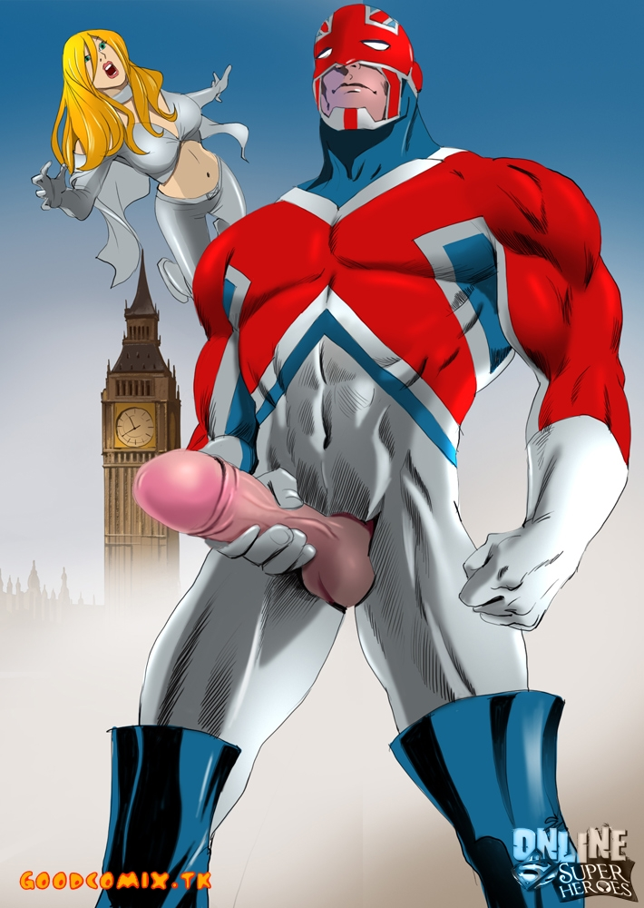 Goodcomix Justice League — [Online SuperHeroes] — Captain Britain & Emma Frost
