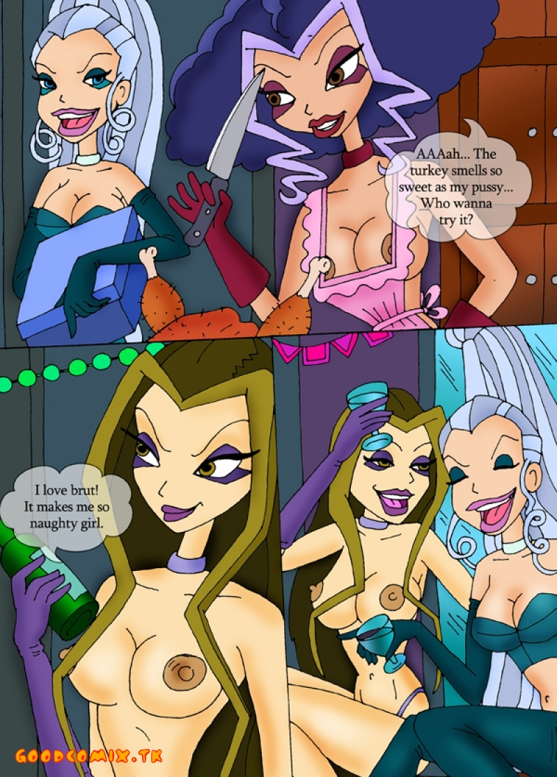 Goodcomix Winx Club - [CartoonValley] - Winx And Winx Witches Are Celebrating Thanksgiving Day Here