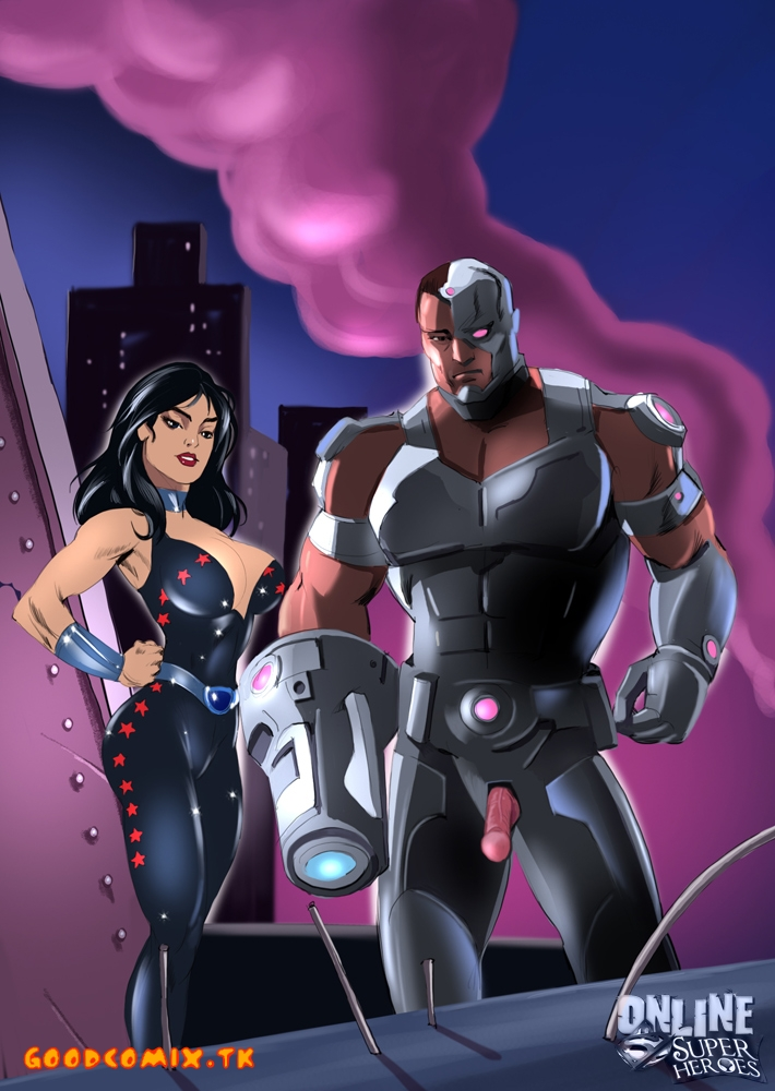 Goodcomix.tk The Teen Titans - [Online SuperHeroes] - Cyborg And Donna Troy