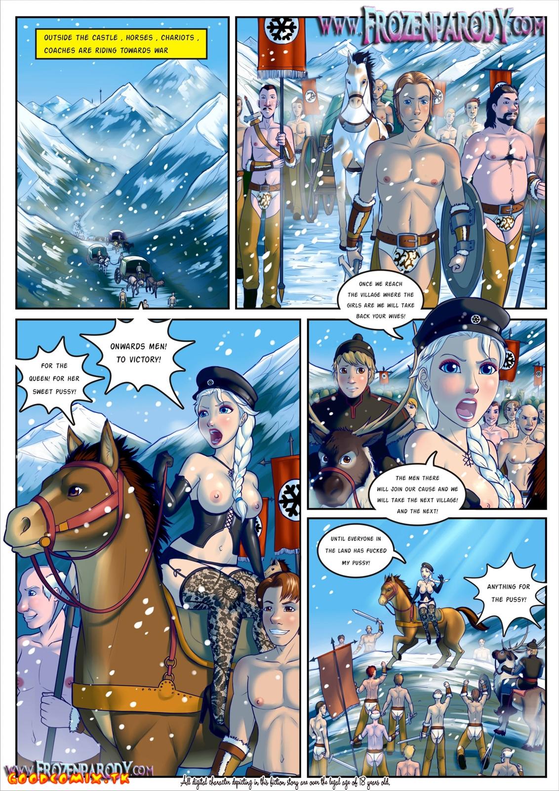 Goodcomix Frozen - [Grimphantom][FrozenParody] - Frozen Parody - Part 2 Anna