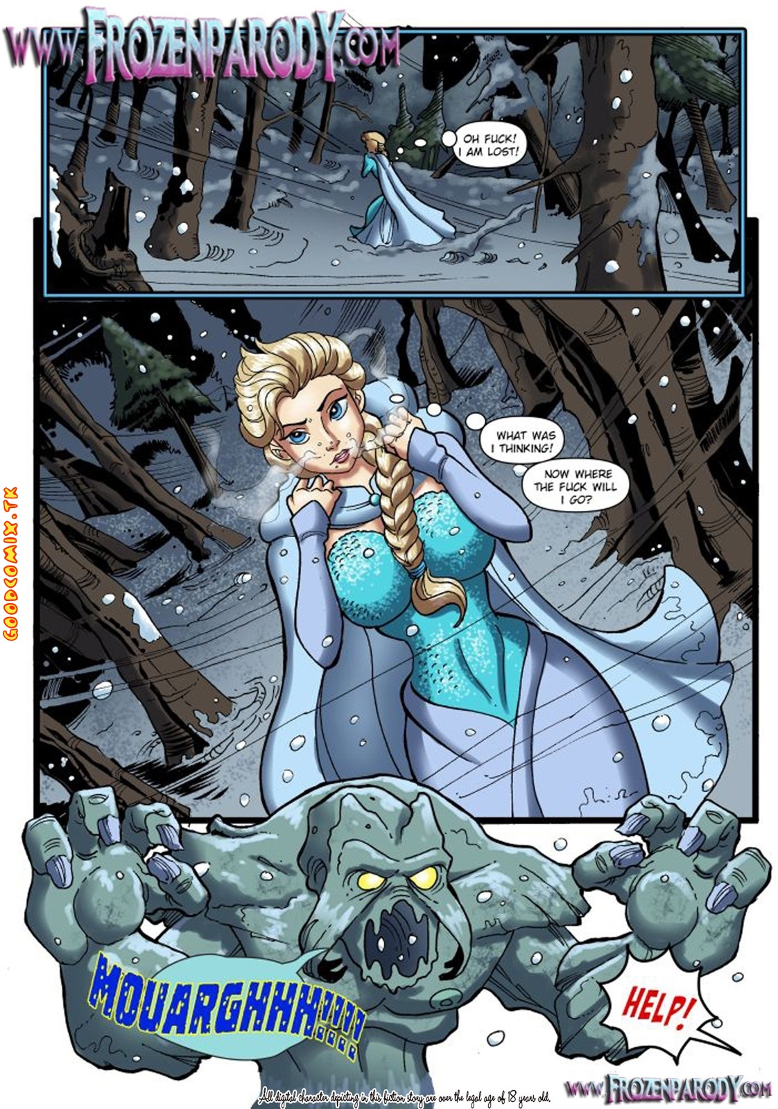 Goodcomix Frozen - [FrozenParody] - Savior's Hard Dick