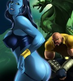 Marvel Universe — [Online SuperHeroes] — Shadow Lass gives her fine piece of ass to Luke Cage