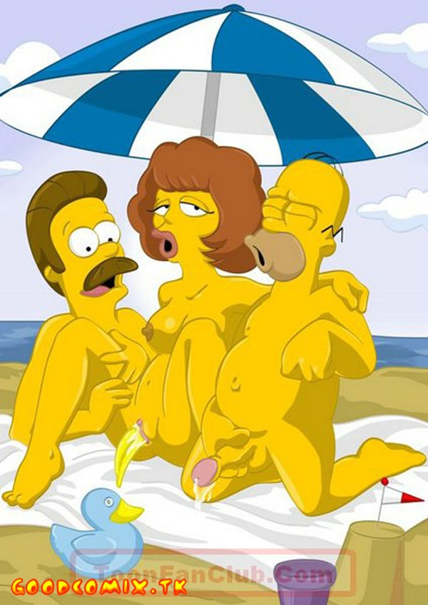 Goodcomix The Simpsons - [ToonFanClub] - Simpsons And Flanders On The Beach