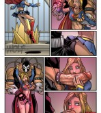 Justice League — [Temporal Wolf] — Superpowered Orgy — Villains & Heroines Group Sex Comic 1