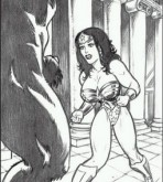 Wonder Woman — Here She Comes! Sexy Wonder Woman Vs. Minotaur