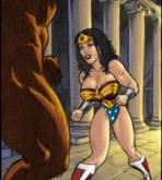 Wonder Woman - Here She Comes! Sexy Wonder Woman Vs. Minotaur