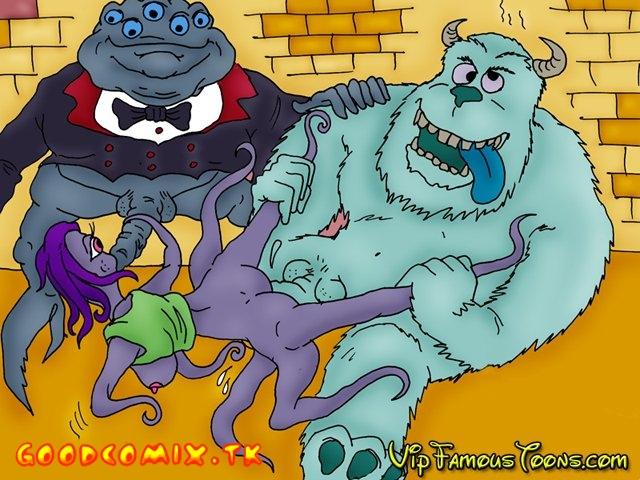 Goodcomix Monsters Inc - [VIP Famous Toons] - Monsters Inc Wild Orgies