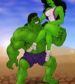 The Incredible Hulk — [Online SuperHeroes] — Hulk and She-Hulk In A Hot Porno Shoot!