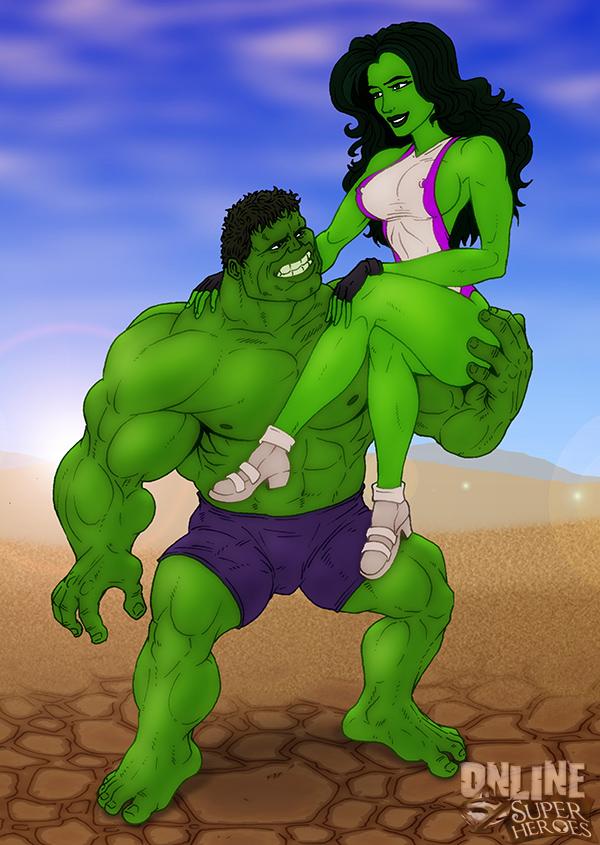 Goodcomix The Incredible Hulk - [Online SuperHeroes] - Hulk and She-Hulk In A Hot Porno Shoot!