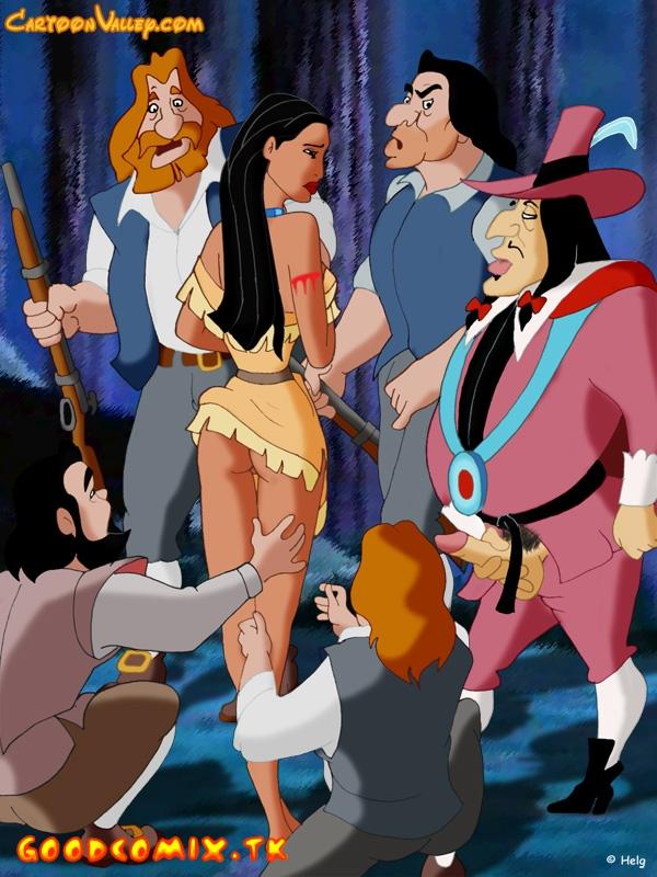 Goodcomix Pocahontas - [CartoonValley] - Pocahontas and English Colonists