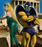 Crossover Heroes — [Online SuperHeroes] — The Enchantress Enjoys Kinky Sex With Skrull Criti Noll