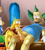 The Simpsons - [Drawn Hentai][ToonFanClub] - Porno Orgy In The House Simpsons (two colors)