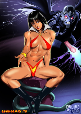 Goodcomix Crossover Heroes - [Online SuperHeroes] - Vampirella Gets Hard Anal Sex And A Facial From Zadkiel