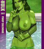 She-Hulk — [Bloodfart] — She-Hulk 2017 Pinup Calendar