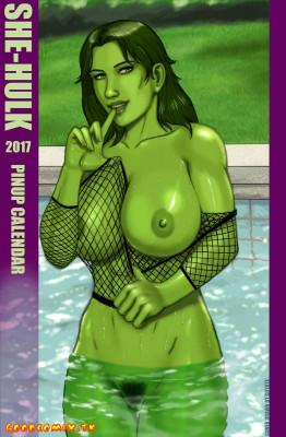 Goodcomix She-Hulk - [Bloodfart] - She-Hulk 2017 Pinup Calendar