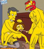 The Simpsons - [Famous Toons Facial][acme] - Willie with Skinner fucks Edna Krabappel