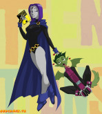 The Teen Titans — [Flick] — Raven Comic Just For Fun