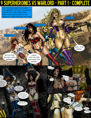 Goodcomix [Matt Johnson] - 9 Superheroines vs Warlord Ch. 1-3