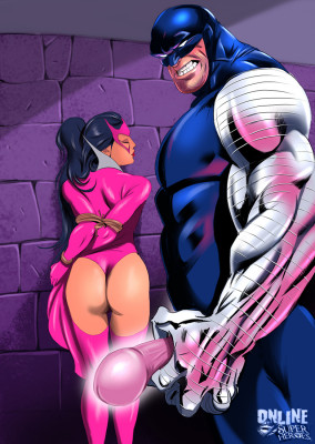 Goodcomix Crossover Heroes - [Online SuperHeroes] - Carol Ferris Acts Out a Hot Bondage Sex Fantasy With Cyber