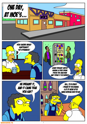Goodcomix The Simpsons - [Kuroishin] - One Day At Moe's