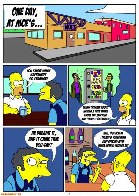 Goodcomix The Simpsons - [Kuroishin] - One Day At Moe's