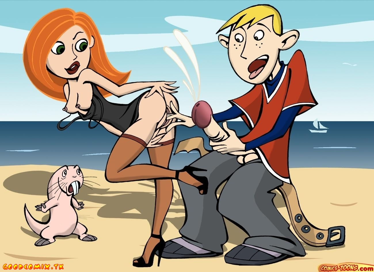 Goodcomix.tk Kim Possible - [Comics-Toons] - Beach, Sea And Whores