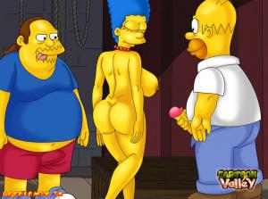 Goodcomix The Simpsons - [CartoonValley][NEW] - Homer & Jeff Albertson Fucks Marge 2 (Two versions)