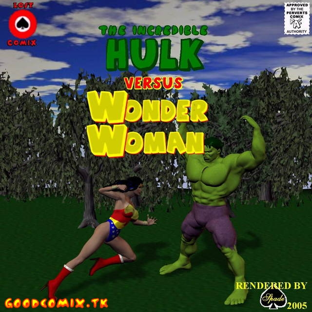 Goodcomix.tk Crossover Heroes - [Shade] - The Incredible Hulk Versus Wonder Woman