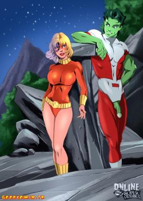 Goodcomix The Teen Titans - [Online SuperHeroes] - Terra Having Hot Outdoors Sex With Beast Boy!