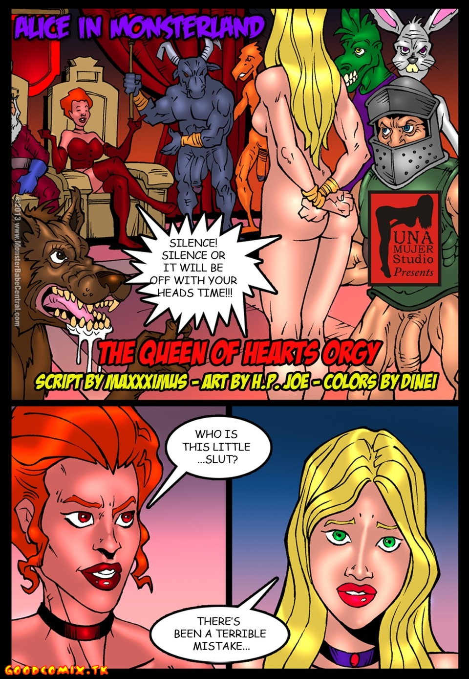 Goodcomix.tk Alice in Wonderland - [MonsterBabeCentral] - Alice in Monsterland 07 - The Queen Of Hearts Orgy