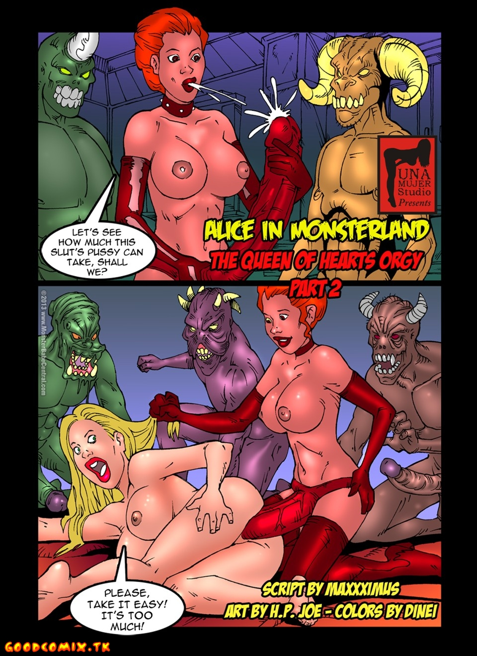Goodcomix.tk Alice in Wonderland - [MonsterBabeCentral] - Alice in Monsterland 08 - The Queen Of Hearts Orgy Part 2
