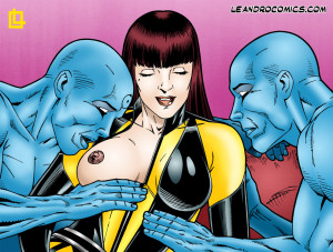 """Goodcomix Watchmen - [Leandro Comics] - """"Oh Dr Manhattan, You Are So Naughty!"""""""